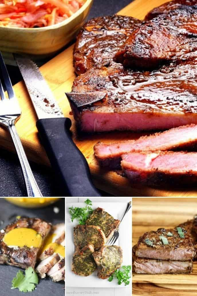 a delicious group of sous vide pork chops recipes