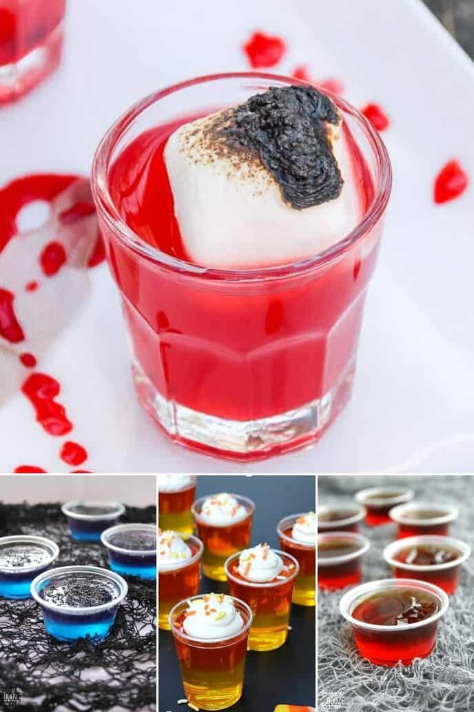 a group of amazingly delicious halloween shots