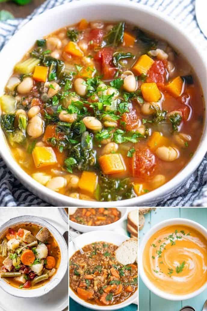 Healthy Vegetable Soups in  Instant Pot