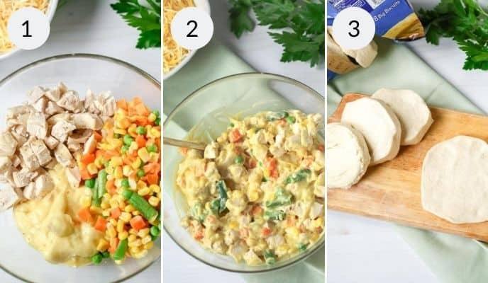 chicken pot pie with biscuit recipe ingredients