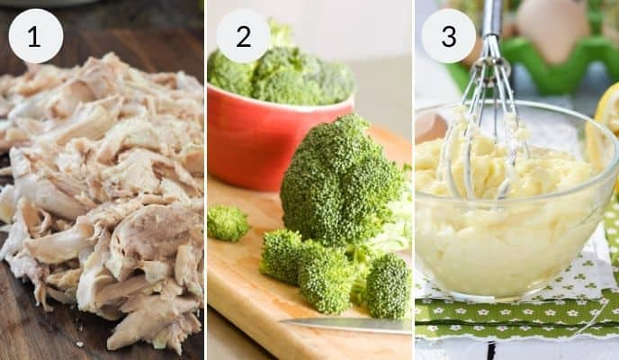Step by step instructions for making chicken divan casserole