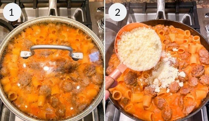 Finishing Italian Sausage Pasta