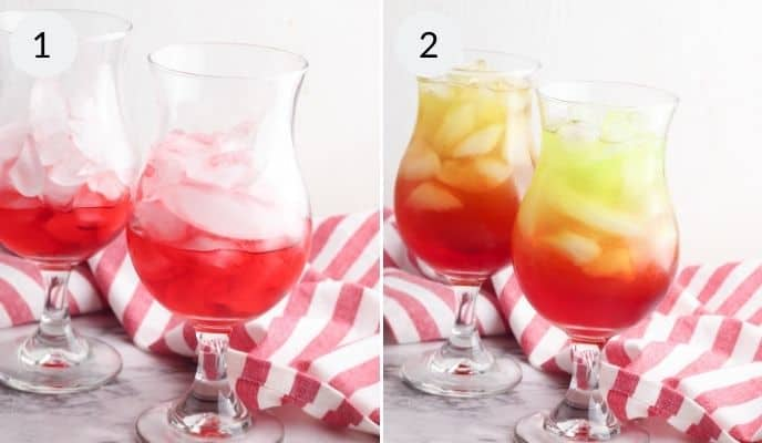 Step by step instructions for making holiday punch