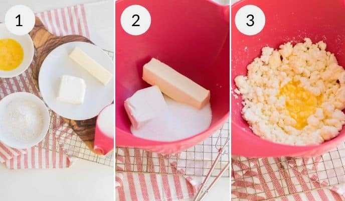 Step by step instructions for making cream cheese sugar cookies