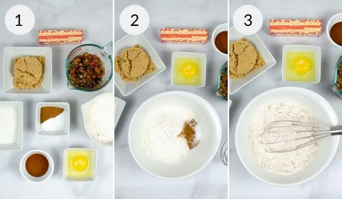 Step by step instructions for making fruitcake cookies