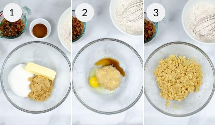 Step by step instructions for making fruit cookies