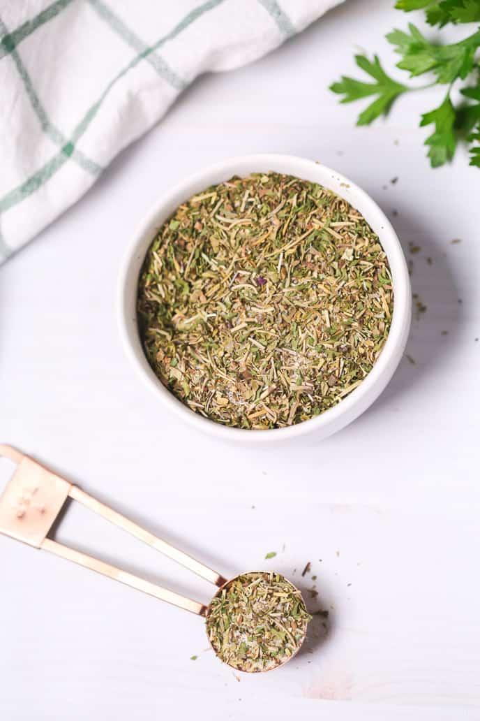 Bowl of Garlic and Herb seasoning