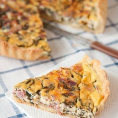 Ham, Cheese and Spinach Quiche