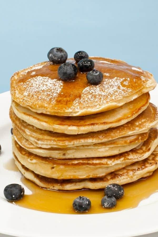 Homemade Pancakes made with homemade pancake mix recipe