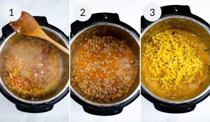Beef Stroganoff next 3 steps