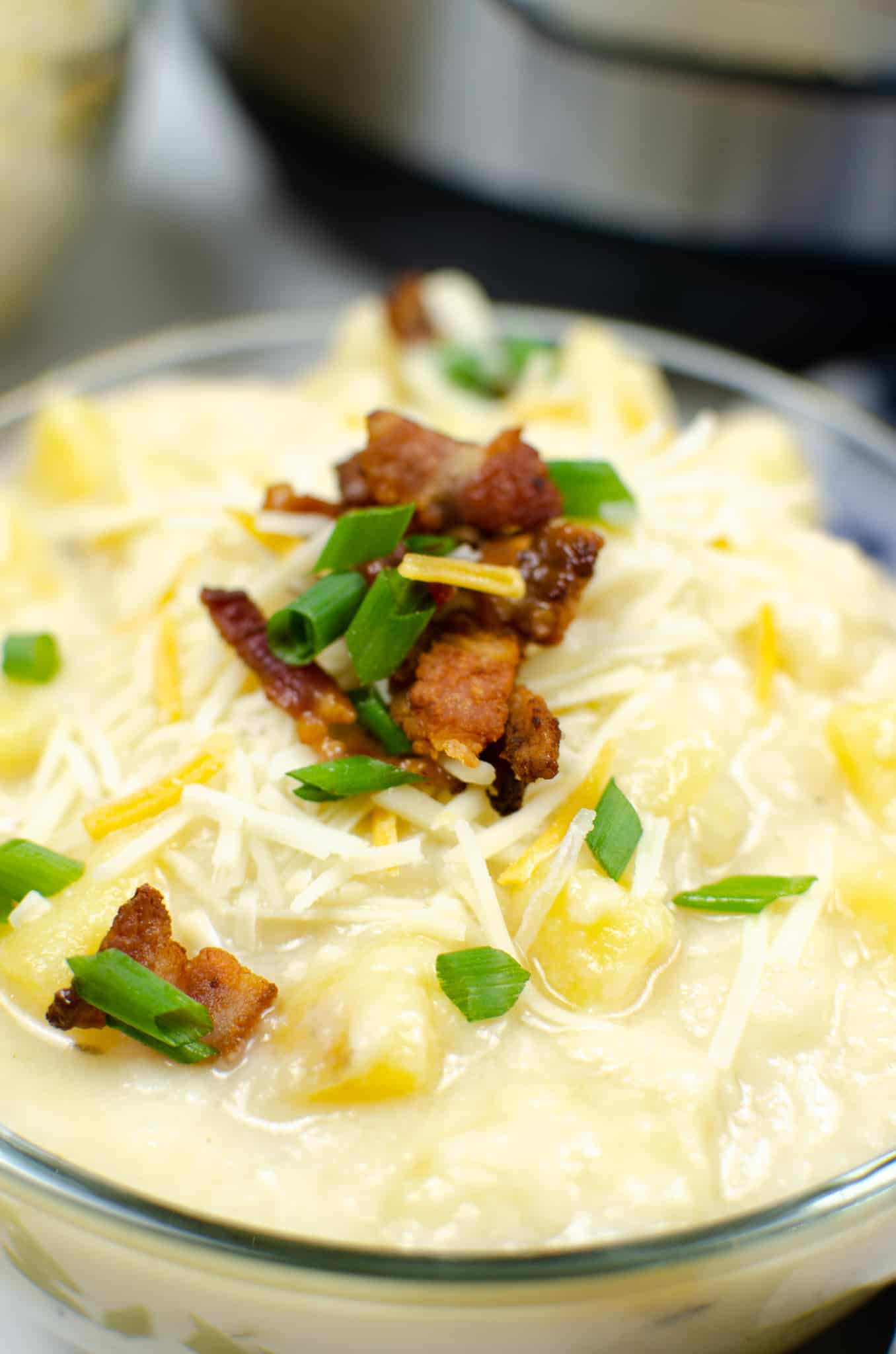 Close up on Instant Pot Potato Soup