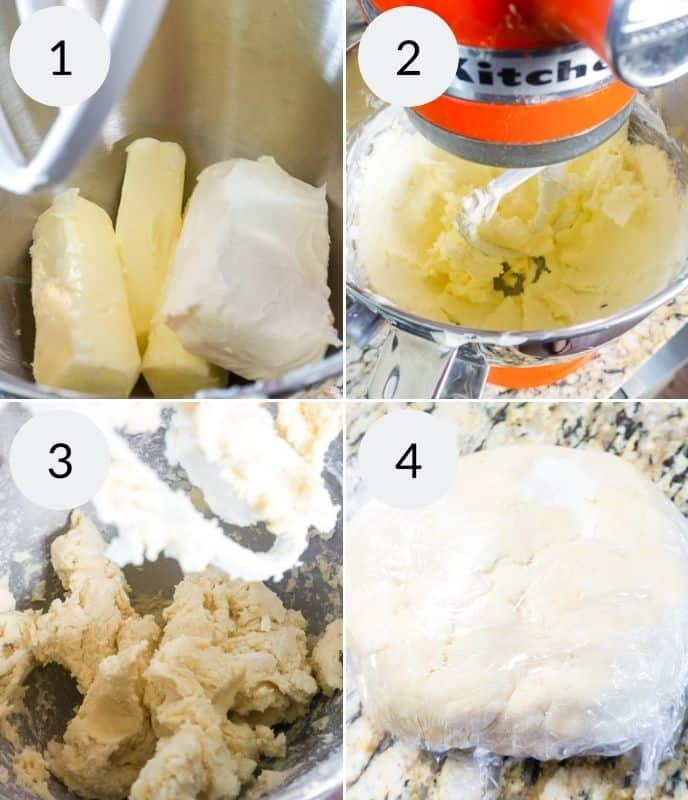 Step by step instructions for making kolaczki