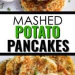 2 images of potato pancake