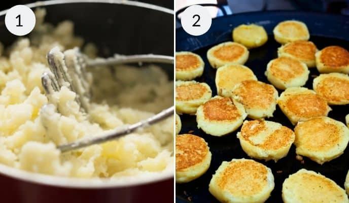 Steps for mashed Potato Pancakes