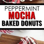 Closeup on Peppermint Mocha Donut