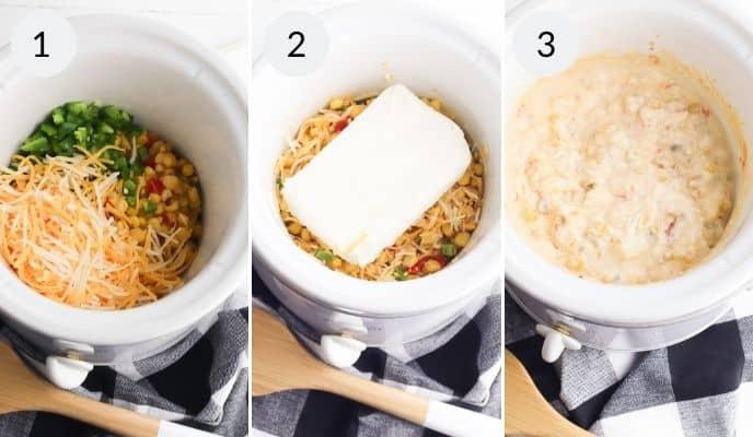Steps to create Corn dip