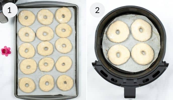 Step by step instructions for making air fryer donuts