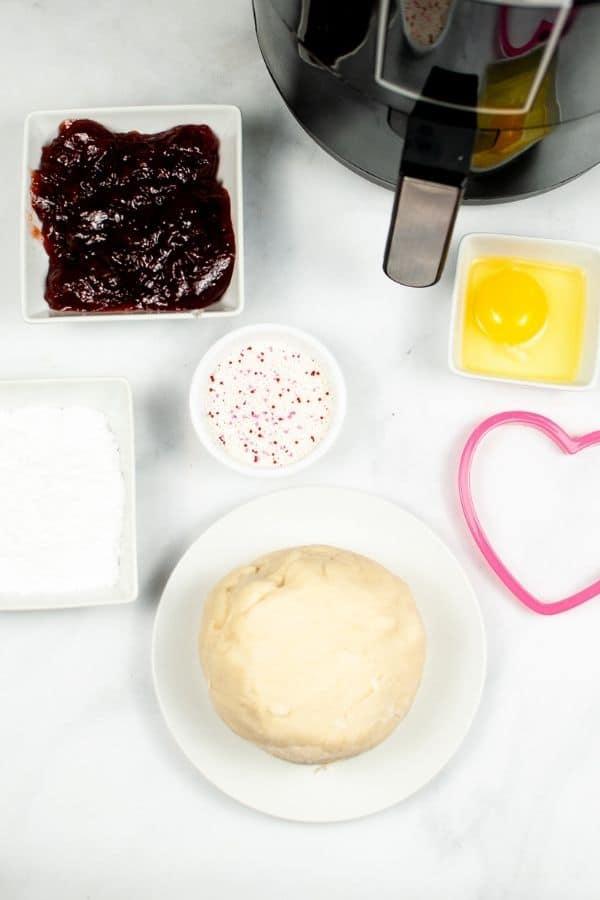 Air Fryer, Dough, Cutter and jam for air fryer pop tarts