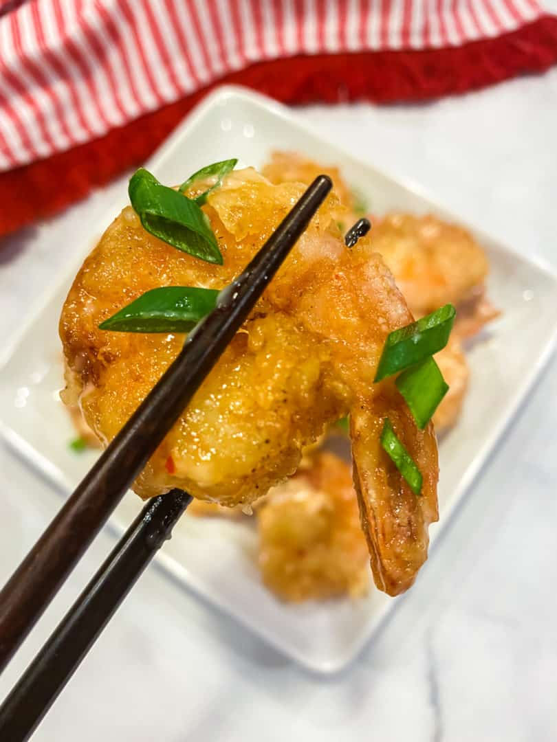 Bang bang shrimp recipe with chopsticks