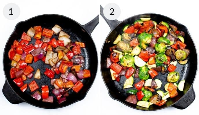 photo of sauteed vegetables