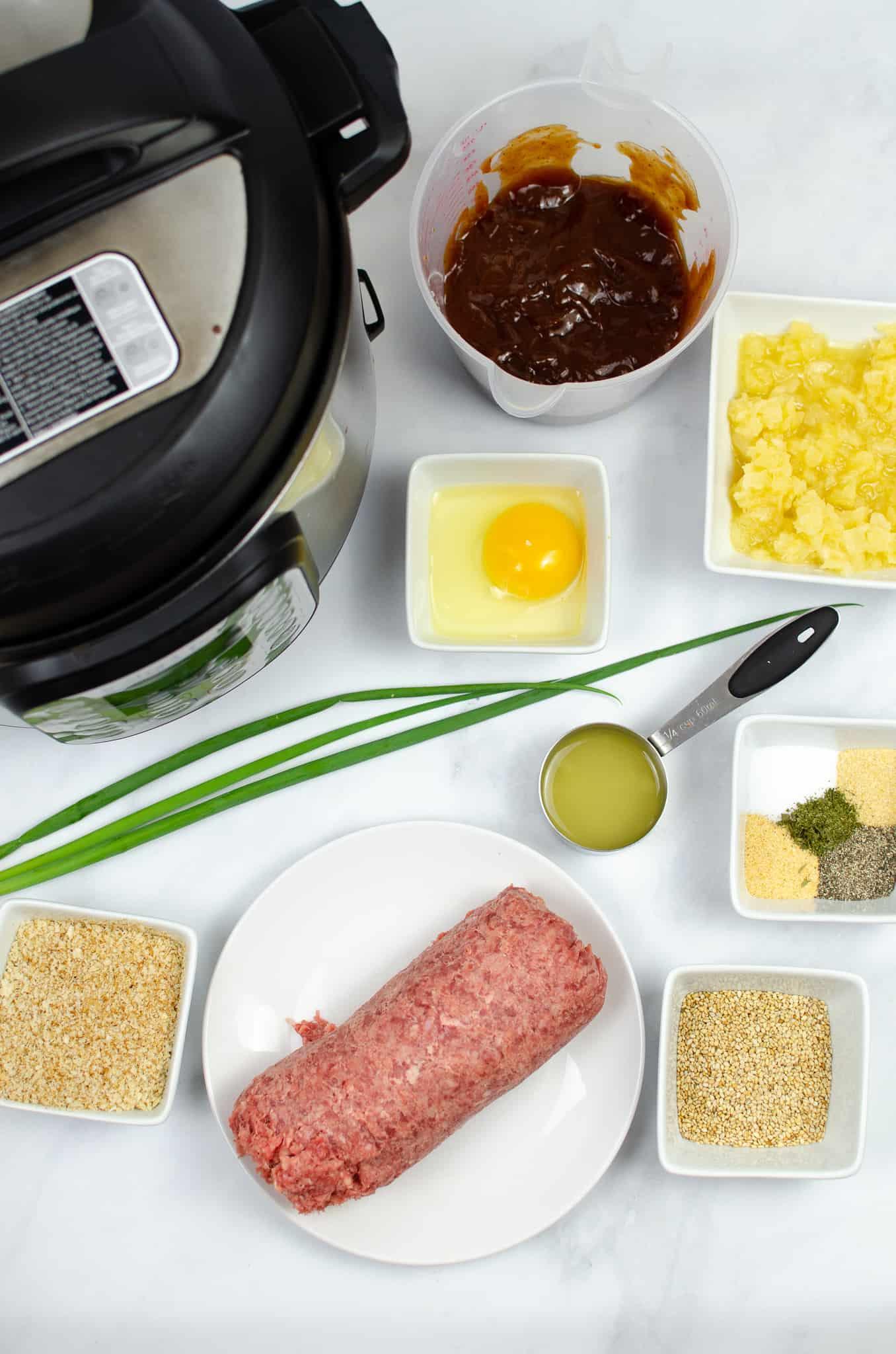 Ingredients for Instant Pot Hawaiian Meatballs