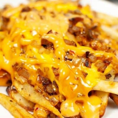 In n Out Animal Fries on a white plate