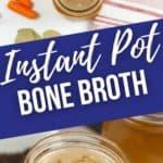 close up and top shot of instant pot bone broth