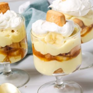 Collection of banana pudding parfaits