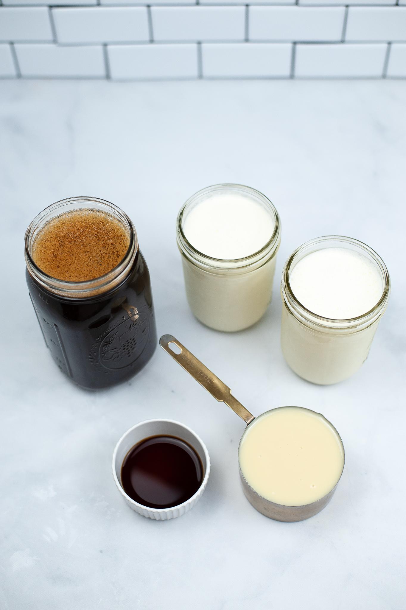 Cold brew coffee vanilla and cream.