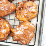 Platter of Apple Fritters cooling.