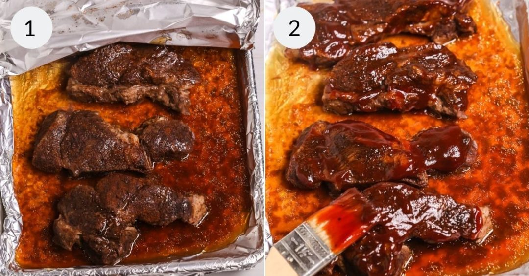 Step by step instructions for making BBQ country beef ribs